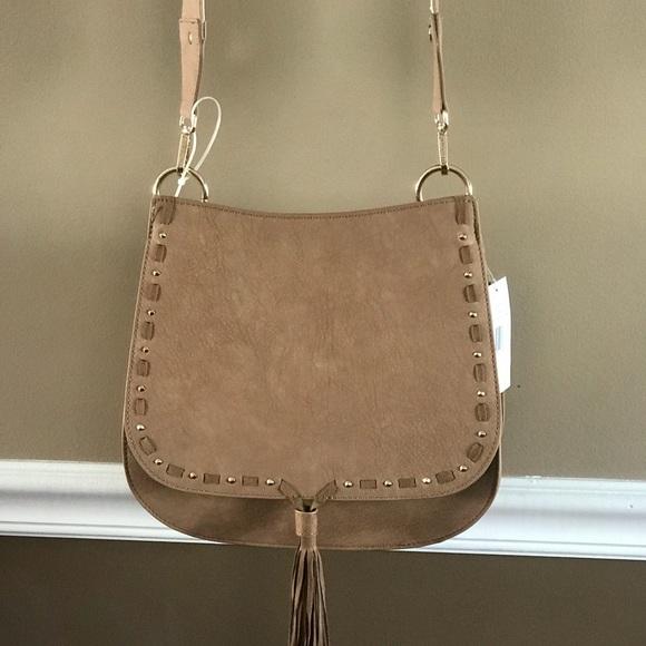 163a754d2f5 NWT Steve Madden Swiss Camel Saddle Bag beautiful
